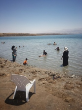 Am Toten Meer, bei 44°C.