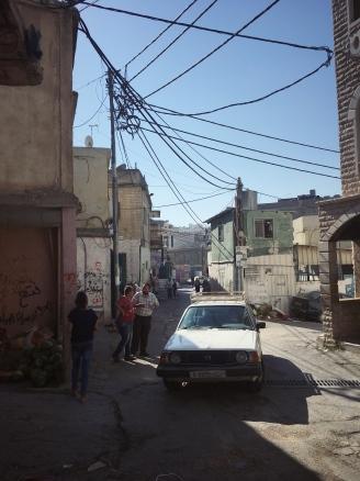 Straßenszene im Camp Dheisheh.