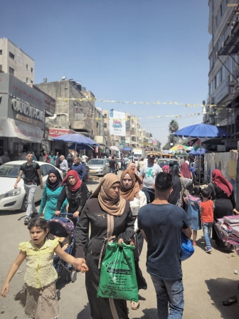 Auf den Straßen von Ramallah.