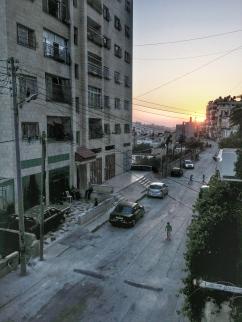 Sonnenuntergang in Nablus