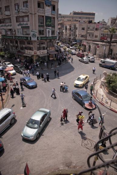 Die Innenstadt von Ramallah.
