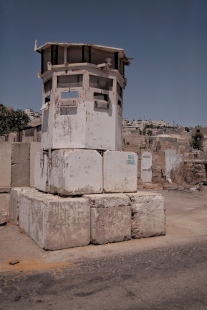 Wachturm der israelischen Armee in Herbon, Westbank.