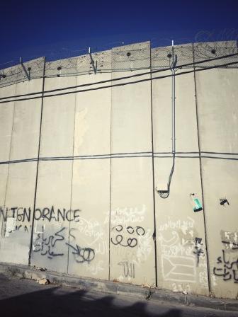 Mauer in Ostjerusalem.