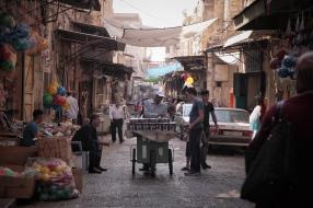 Straßenszene in Nablus.